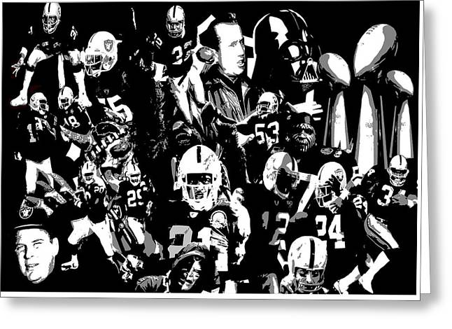 Woodson Greeting Cards - History Raider Nation A Collage Greeting Card by John Farr