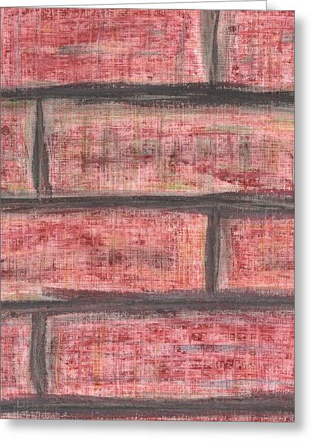 Brick Pastels Greeting Cards - Hit A Brick Wall Greeting Card by David Jacobi