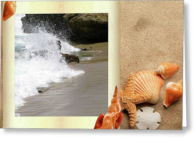 Best Ocean Photography Mixed Media Greeting Cards - Hit The Beachs  Greeting Card by Debra     Vatalaro