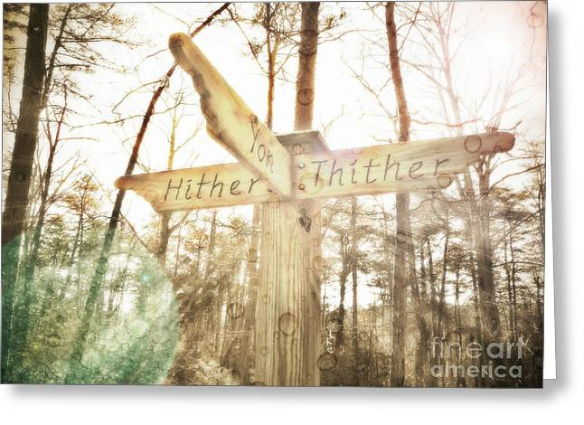 Hither Thither And Yon Greeting Card by Anita Faye