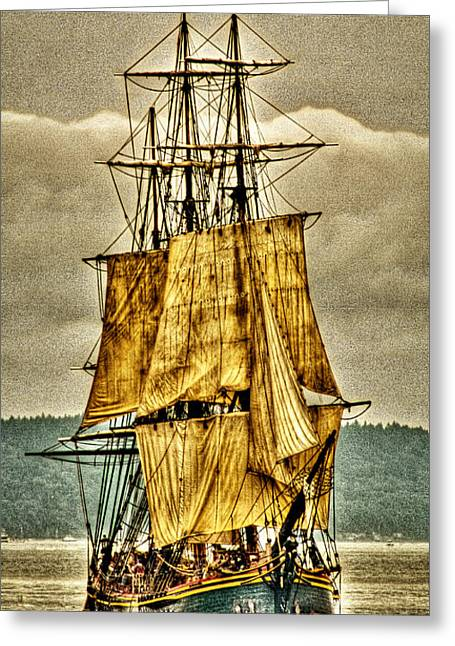 Pirate Ship Digital Greeting Cards - HMS Bounty Greeting Card by David Patterson