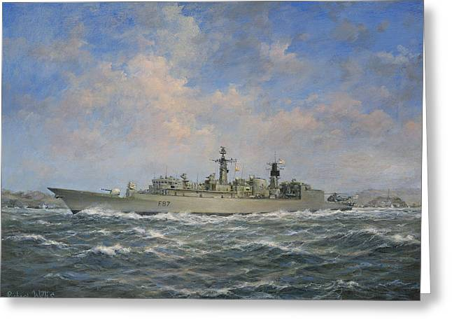 Ocean Sailing Greeting Cards - HMS Chatham Greeting Card by Richard Willis