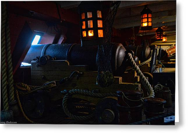 Tall Ships Greeting Cards - HMS Surprise 5 Greeting Card by Tommy Anderson