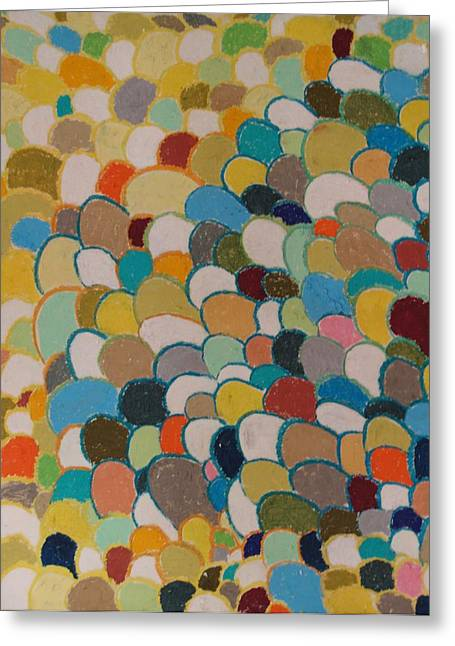 Abstract Geometric Pastels Greeting Cards - Hoarding for Pleasure Greeting Card by Jacob Stempky