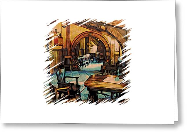 Table Greeting Cards - Hobbit Writing Nook Greeting Card by Kathy Kelly