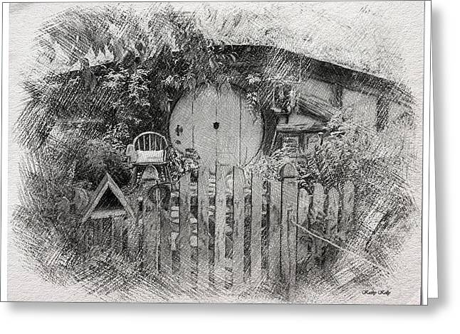 Hobbit's Front Gate Illustration Greeting Card by Kathy Kelly