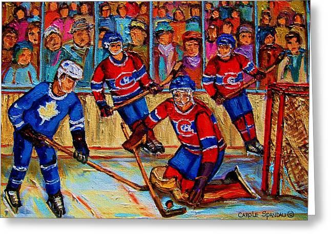 Hockey  Hero Greeting Card by Carole Spandau