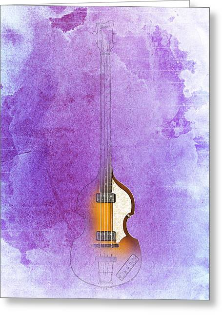 Hofner Greeting Cards - Hofner bass Greeting Card by Pablo Franchi