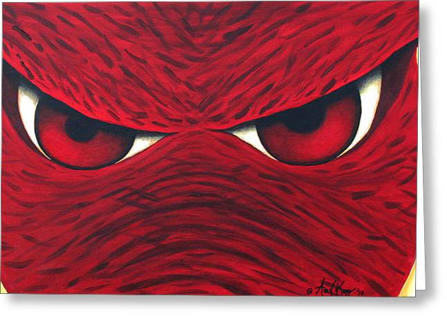 Hogs Greeting Cards - Hog Eyes 2 Greeting Card by Amy Parker