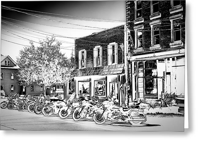 Hogs In Old Forge Ny Greeting Card by David Patterson