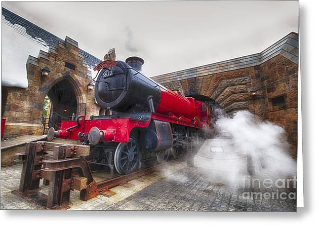 Hogwarts Express Greeting Card by Darcy Michaelchuk