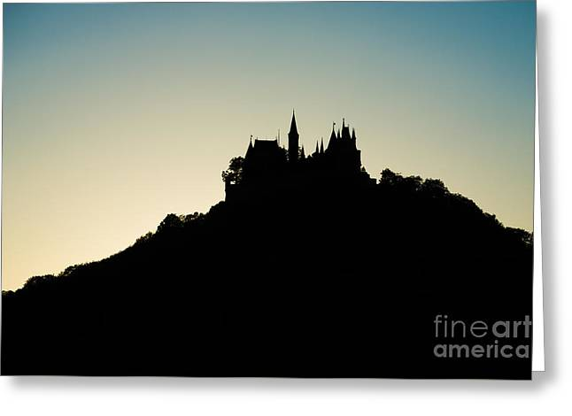 Deutschland Greeting Cards - Hohenzollern Castle Silhouette Greeting Card by Alexander Kunz