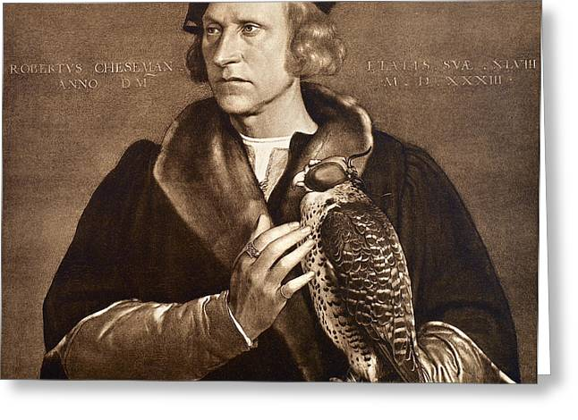 Holbein: Falconer, 1533 Greeting Card by Granger
