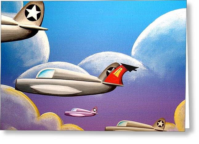 Jet Airplane Greeting Cards - Hold On Tight Greeting Card by Cindy Thornton