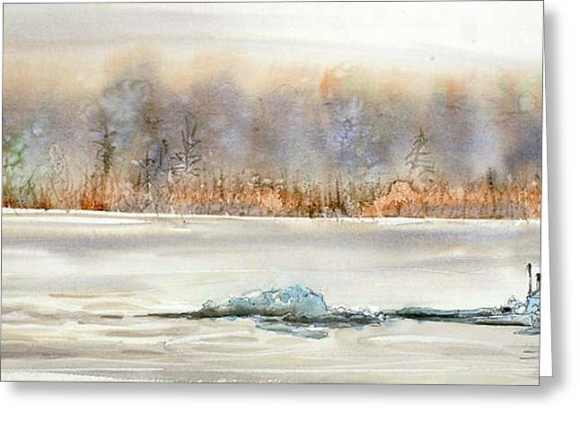 Fishing Creek Greeting Cards - Hold on to your Hat Greeting Card by Shirley Sykes Bracken