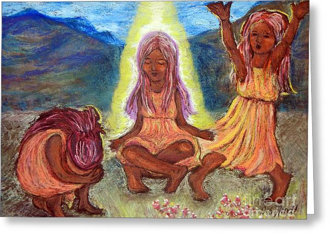 Sorrow Pastels Greeting Cards - Hold Your Position Greeting Card by Deb Arndt