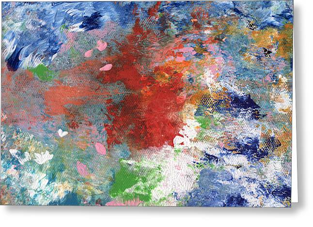 Holding On- Abstract Art By Linda Woods Greeting Card by Linda Woods