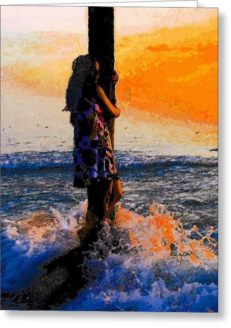 Wonderment Greeting Cards - Holding on Greeting Card by David Lee Thompson