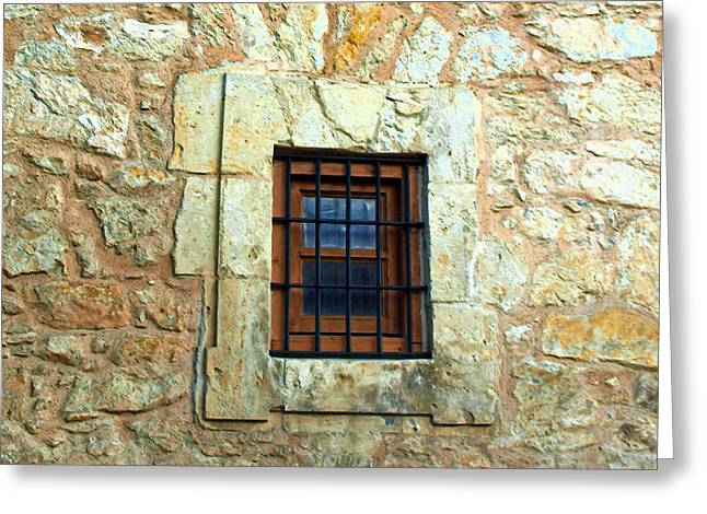 Window Bars Greeting Cards - Hole In The Wall Greeting Card by James Granberry