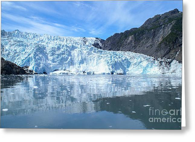 Alaskan Canvas Art Prints Greeting Cards - Holgate Glacier Greeting Card by Jennifer White