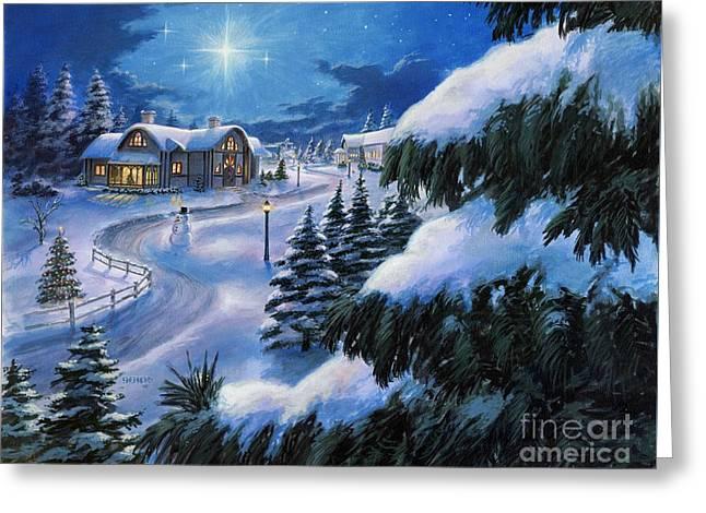 Holiday Lane Greeting Card by Stu Shepherd