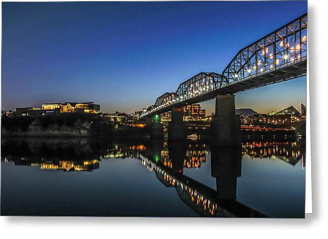 Holiday Lights Chattanooga #4 Greeting Card by Tom and Pat Cory