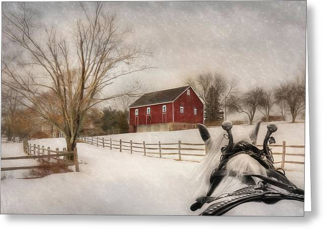Holiday Ride Greeting Card by Lori Deiter