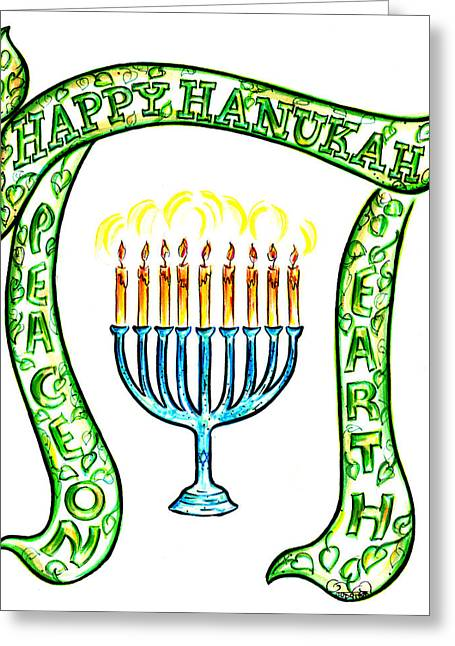 Hanukah Greeting Cards - Holiday Time Greeting Card by Judith Herbert