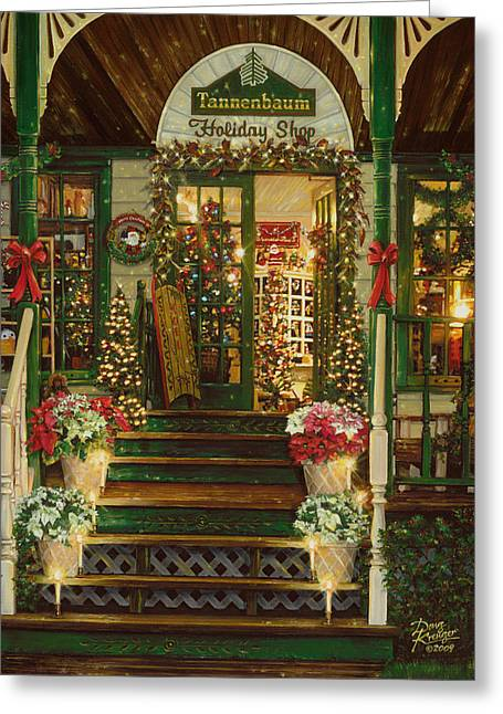 Holiday Treasured Greeting Card by Doug Kreuger