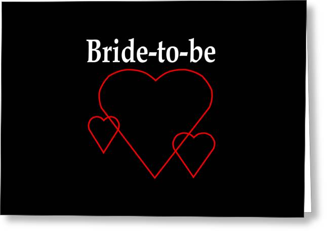 Bride To Be Greeting Cards - Hollow Hearts Bride-To-Be Greeting Card by Frederick Holiday