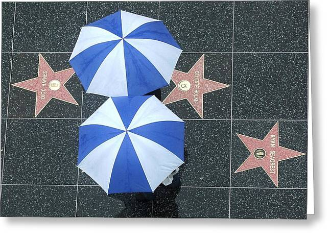 Umbrellas Photographs Greeting Cards - Hollywet Greeting Card by Dan Holm