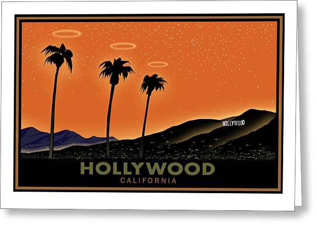 Sunset Posters Greeting Cards - Hollywood Angels Greeting Card by Steve Beaumont
