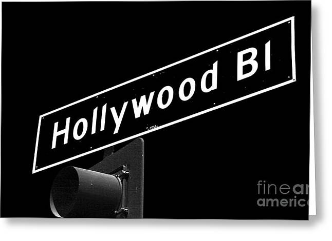 Hollywood Boulevard Sign Greeting Card by John Rizzuto