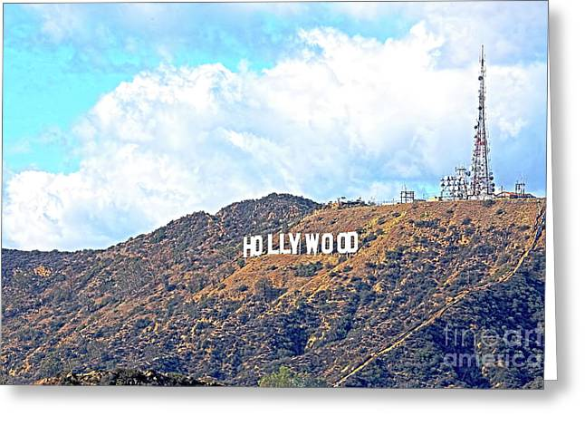 Hollywood Greeting Card by Edita De Lima