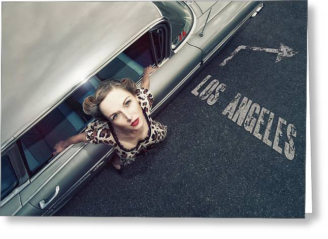 Sexy Photographs Greeting Cards - Hollywood Road Greeting Card by Reinhard Block