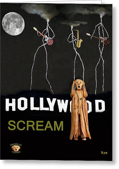 Star Valley Mixed Media Greeting Cards - Hollywood Scream Greeting Card by Eric Kempson
