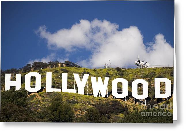 Hollywood Sign Greeting Card by Anthony Citro