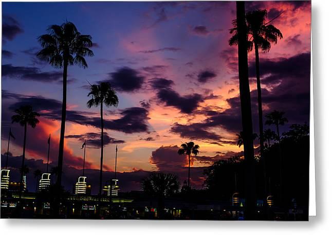 Disney World Greeting Cards - Hollywood studios twilight Greeting Card by Chris Bordeleau