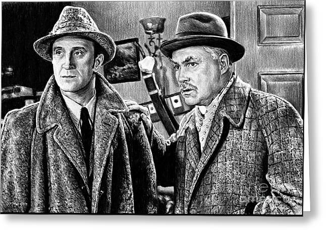 Holmes And Watson Greeting Card by Andrew Read