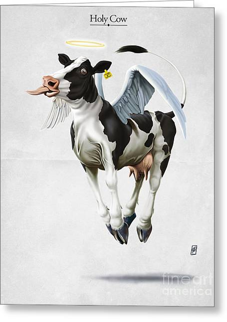 Holy Cow Greeting Card by Rob Snow