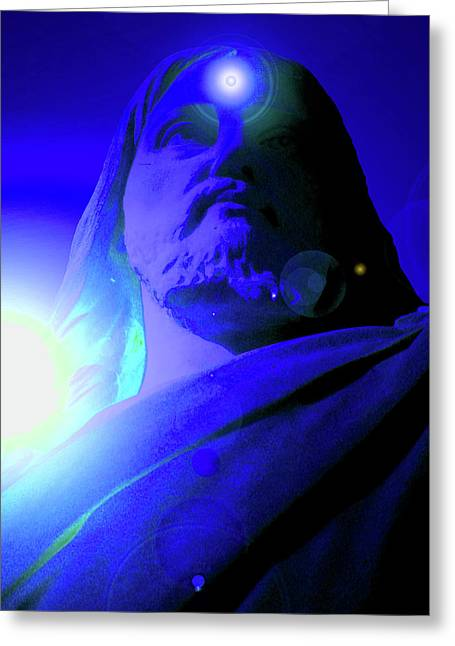 Issa Greeting Cards - Holy Face No. 14 Greeting Card by Ramon Labusch