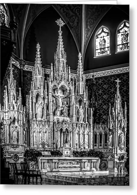 Holy Family Cathederal Greeting Card by F Leblanc