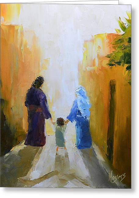 Mike Moyers Greeting Cards - Holy Family Greeting Card by Mike Moyers