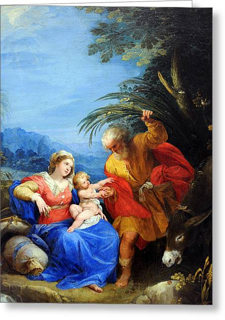 Holy Family Greeting Card by Munir Alawi
