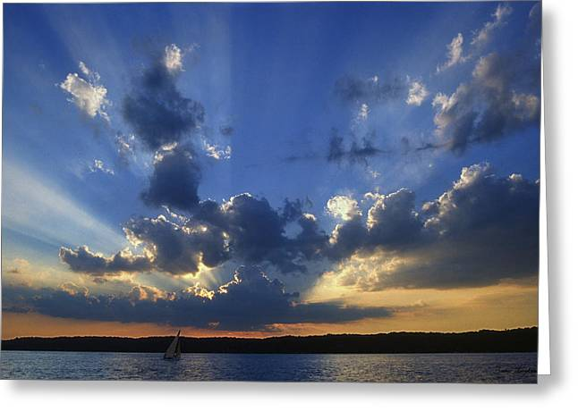 Nautical Greeting Cards - Holy Grail - Lake Geneva Wisconsin Greeting Card by Bruce Thompson
