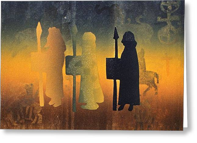 Birth Of Christ Greeting Cards - Holy Ground Greeting Card by Gloria Wallington
