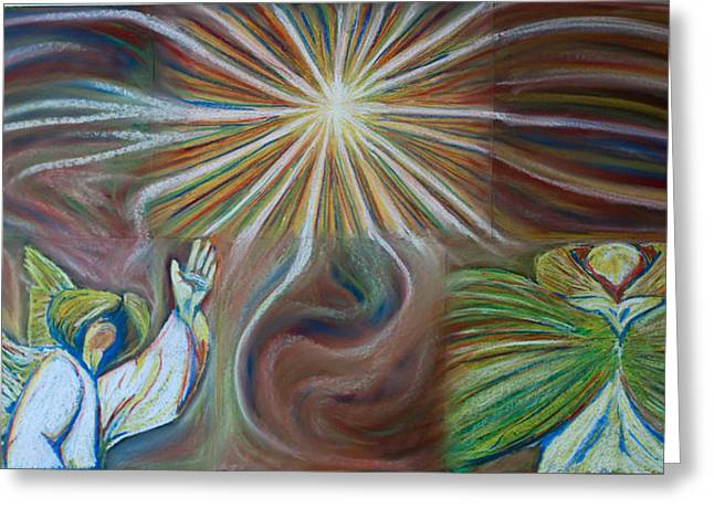 Jesus Pastels Greeting Cards - Holy Holy Holy Greeting Card by Joseph Bradley