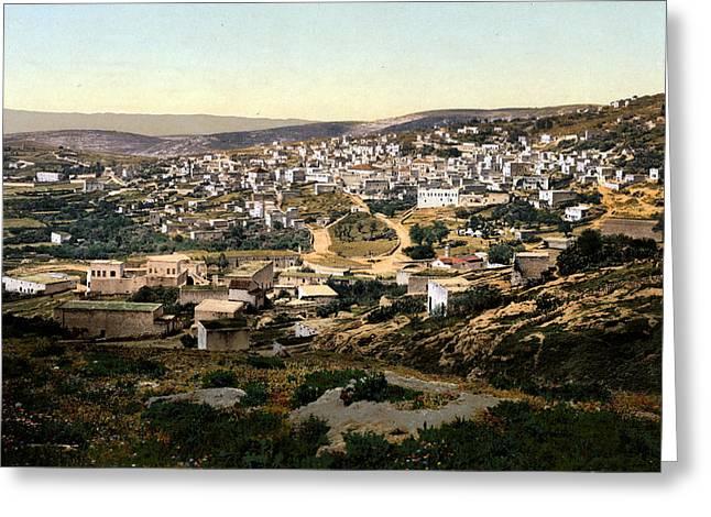 Holyland Greeting Cards - Holy Land - Nazareth Greeting Card by Munir Alawi