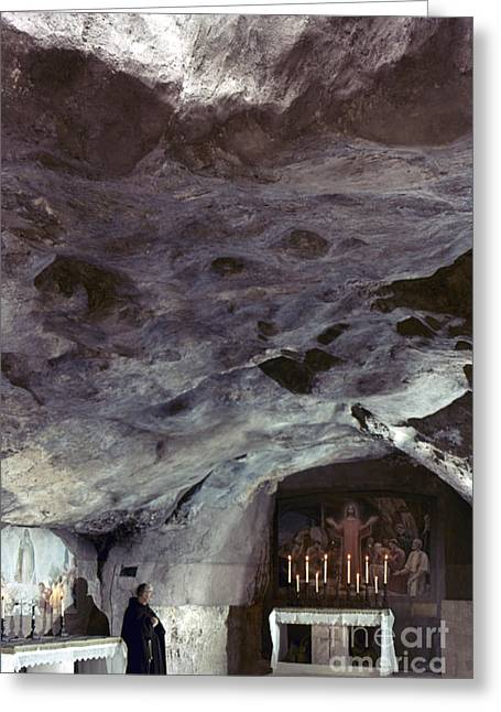 Agony In Garden Greeting Cards - Holy Land: Gethsemane Greeting Card by Granger