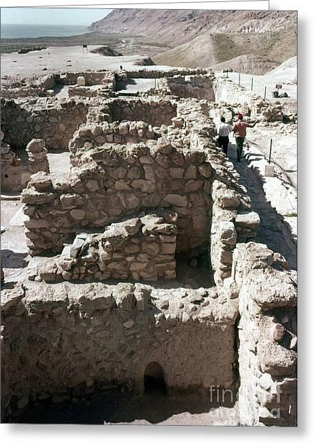 Essene Greeting Cards - Holy Land: Qumran Ruins Greeting Card by Granger